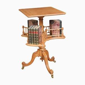 Mesa giratoria de madera satinada