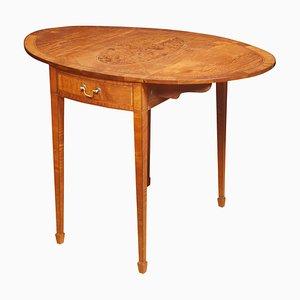 Mesa Pembroke estilo George III de madera satinada