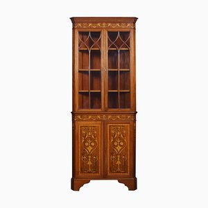 Mahogany Inlaid Corner Cabinet