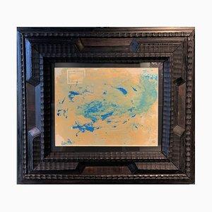 Dora Maar, Abstrakte Türkise Komposition, Öl auf Papier, 1950er