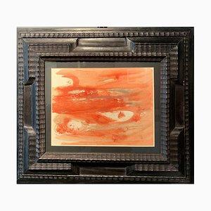 Dora Maar, Abstract Orange Composition, Öl auf Papier, 1950er