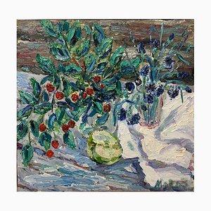 Georgij Moroz, Sauerkirschen und Blumen, Öl, 2006