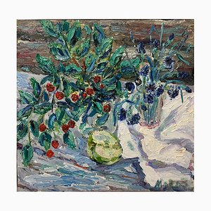 Georgij Moroz, Sour Cherries and Flowers, Oil, 2006