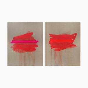 Pannelli, pittura astratta, 2021