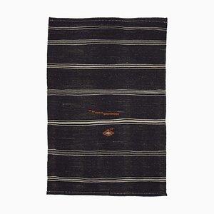 Brauner türkischer Vintage Kelim Teppich
