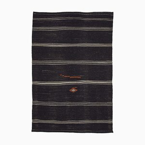 Brown Vintage Turkish Kilim Rug