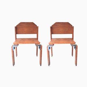 Sillas de madera de Georges Candilis & Anja Blomstedt, años 60. Juego de 2