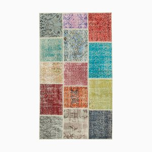 Multicolored Patchwork Runner Rug
