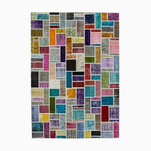 Multicolored Modern Patchwork Rug