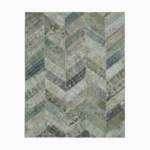 Moderner grauer Patchwork Teppich