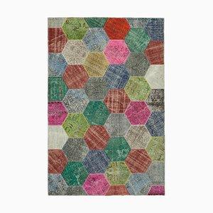 Moderner bunter Patchwork Teppich