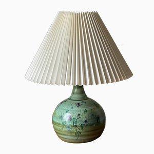 Handmade Danish Ceramic Table Lamp, 1960s