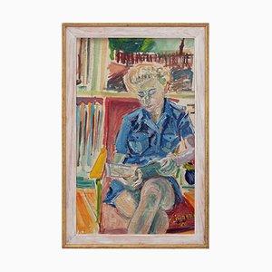 Sten Lindahl, Portrait einer Frauenlesung