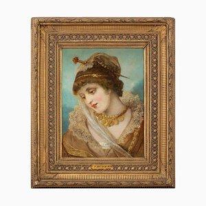 Franz Russ the Elder, Retrato de una mujer disfrazada