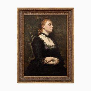 Britische Schule, Portrait einer Dame in Schwarz