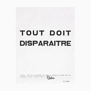 Tout doit disparaître by Ben Vautier