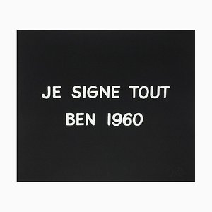 Suite Macerata: JE SIGNE TOUT BEN de Ben Vautier, años 60