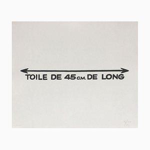 Suite Macerata: TOILE DE 45 CM DE LONG de Ben Vautier