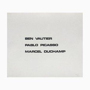 Suite Macerata: BEN VAUTIER PICASSO DUCHAMP von Ben Vautier