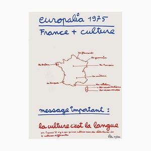 Europalia 1975, France + Culture by Ben Vautier