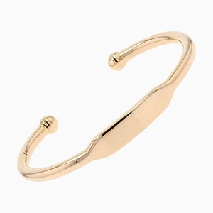 Modern 18 Karat Rose Gold Bangle Bracelet