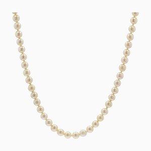 Französische Zuchtperlen Choker Halskette, 1950er
