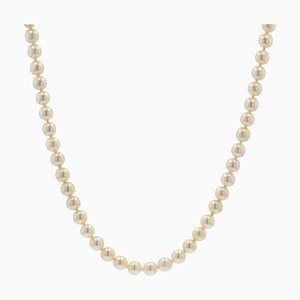 French Cultured Pearl Choker Necklace, 1950s