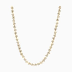 French Akoya Cultured Pearl Long Necklace