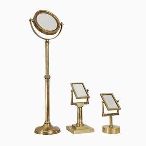 Tavolo antico in ottone con specchio di Jules Duboscq