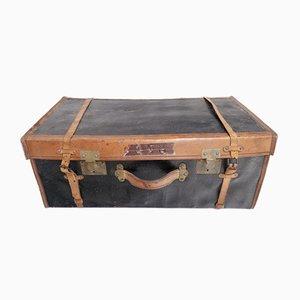 Französischer Koffer aus Leder, 1930er