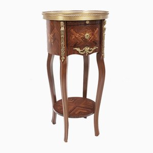 French Rosewood Inlaid Marquetry Side Table