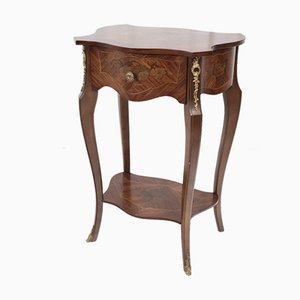 Table d'Appoint Baroque en Marqueterie de Palissandre, France