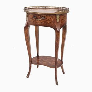 Baroque French Inlaid Rosewood Marquetry Side Table