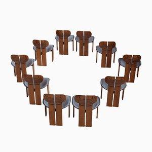 Africa Esszimmerstühle von Afra & Tobia Scarpa für Maxalto, 1975, 10er Set