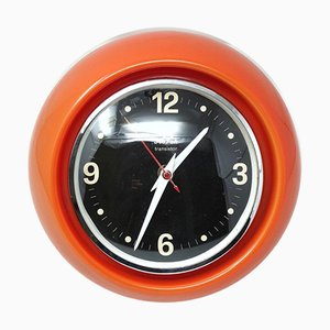 Vintage Space Age Red Table Clock