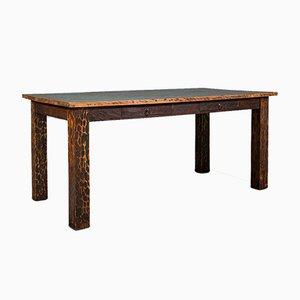Vintage English Decorative Hardwood Dining Table, Late 20th Century