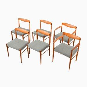 Esszimmerstühle von HW Klein für Bramin, 1960er, 6er Set