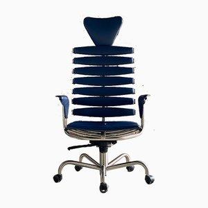 DS2100 Skeleton Stuhl aus blauem Leder von De Sede, Schweiz