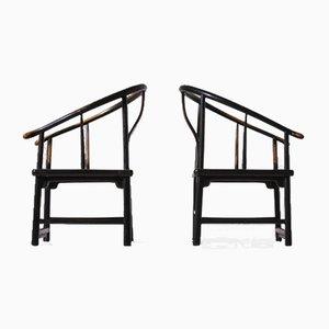 Antike chinesische Hufeisen Stühle, frühes 20. Jh., 2er Set