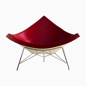 Coconut Chair in Red Leather by George Nelson for Vitra