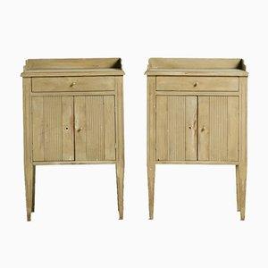 Gustavian Night Cabinets, Set of 2
