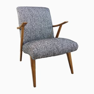 Schwarz-weißer Sessel, 1960er