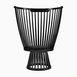 Fan Chair in Black Ash & Leather by Tom Dixon