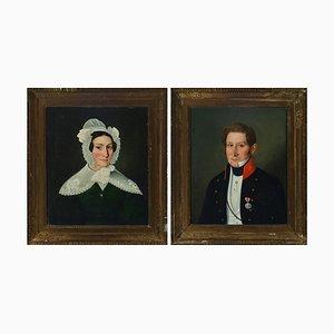 Portraits, Swedish Empire, 1803, 2er Set