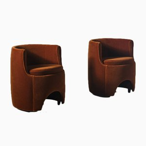 P22 Studio Stühle von Luigi Caccia Dominioni, Italien, 1975, 2er Set