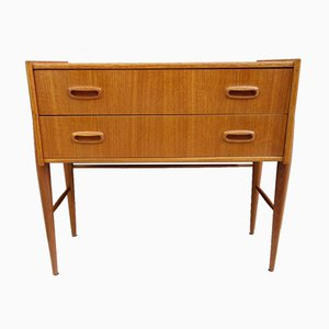 Teak Hall Cabinet with 2 Drawers, 1960s