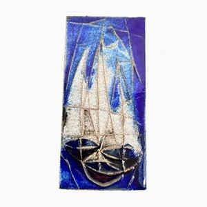 Wandteller aus Keramik von Horst Seifert Arenberg, 1950er