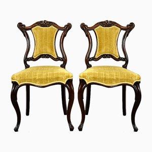 Viktorianische Palisander Stühle, 2er Set