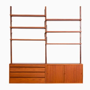 Teak Royal Wall Unit with 2 Cabinets and 6 Shelves by Poul Cadovius, 1960s