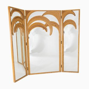 Mirrored Room Divider from Vivai Del Sud, Italy, 1970s